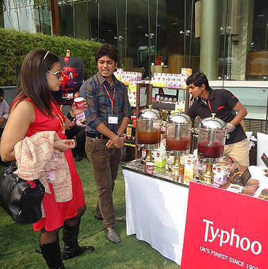 Winter mornings starts with The Power of T ! Typhoo at Gurgaon Farmers Market, one-of-a kind open air whole foods market at Westin Gurgaon