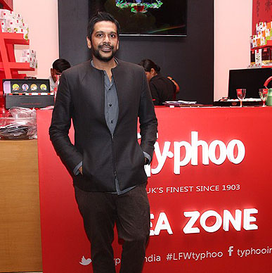 Designer Rocky S loved the Typhoo Tea Zone at Lakme Fashion Week