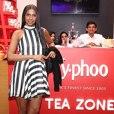 Typhoo brings out the much needed relaxing smile on model Candice Pinto's face, a perfect Power of T