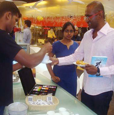 Typhoo is happy to stir a cup of our great tea for eminent dancer Lourd Vijay  - Oxford Bookstore, Bangalore