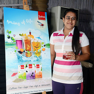 Tennis Player Ankita Bhambri fell in love with Typhoo Infusions - Her smile says it all !