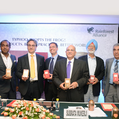 Media launch of the first globally certified environmentally sustainable teas to be marketed across India, April 21st 2015